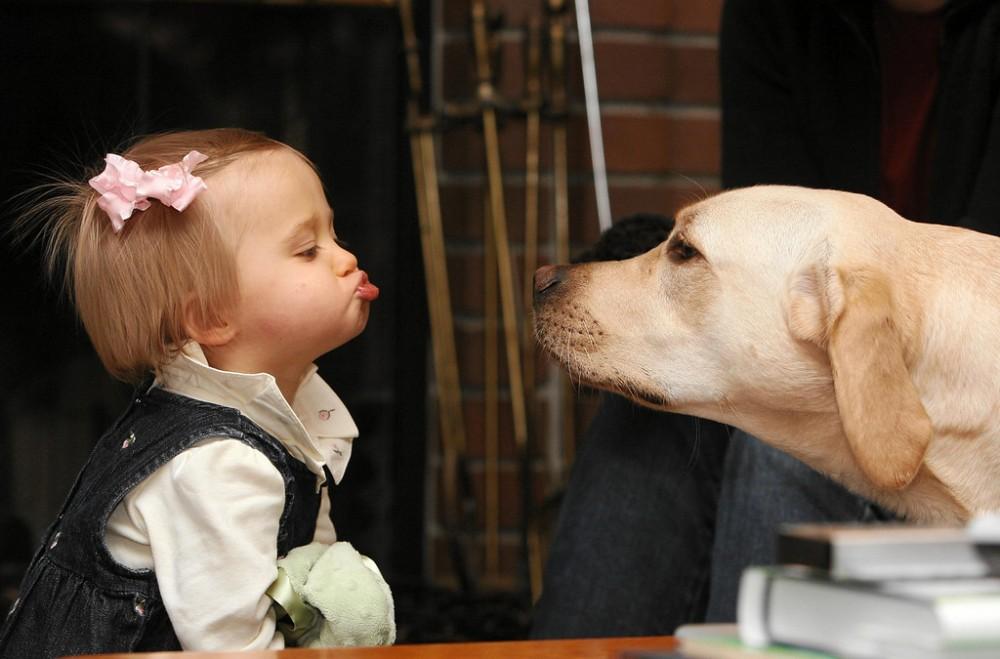 Beso infantil